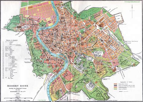Free House Plans With Pictures by Street Map Of Rome Circa 1885