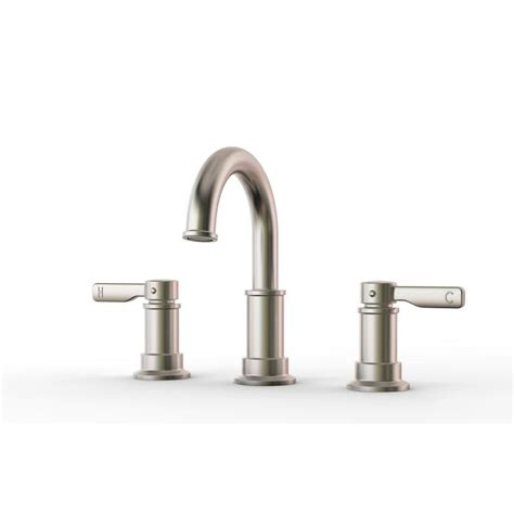 Pfister Bathroom Faucets by Shop Pfister Breckenridge Brushed Nickel 2 Handle Widespread Bathroom Faucet At Lowes