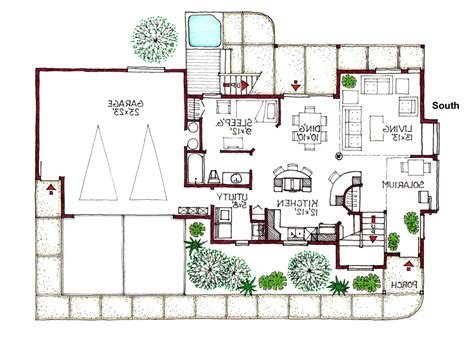 modern house plans view lot modern house