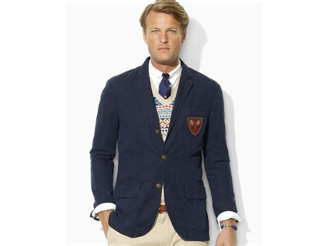 Jaket Rebel Chino Navy By Lisela lyst polo ralph langley organic chino sport coat