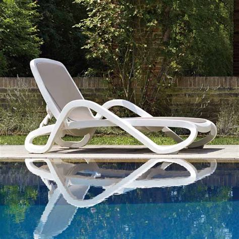 outdoor plastic pool chairs plastic white color outdoor furniture chair lounger