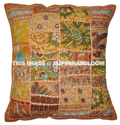 Orange Kitchen Chair Cushions by Orange Patchwork Dining Chair Cushions Bohemian Kitchen