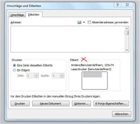 Etiketten Drucken Einstellungen Word by Etiketten Drucken Mit Word 2010 Bluhm Systeme Blog
