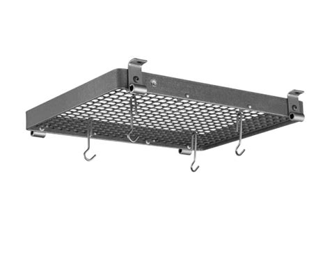 Ceiling Mounted Pot And Pan Rack enclume flush mounted rectangular ceiling pot rack hammered steel williams sonoma