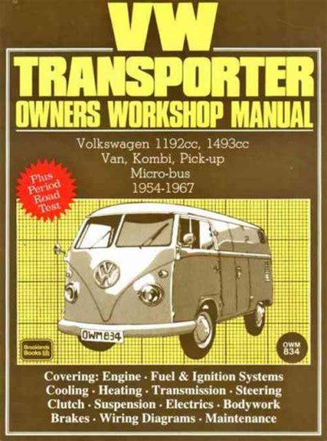 service manuals schematics 1988 volkswagen type 2 head up display volkswagen vw transporter 1954 1967 service repair manual brooklands books ltd uk workshop car