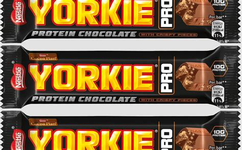 yorkie bar calories nestl 233 launches protein boosted yorkie bar with reduced sugar foodbev media