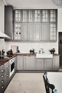 grey white kitchen design idea with l shaped layout home