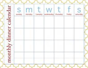 food calendar template sissyprint freebie friday monthly dinner calendar