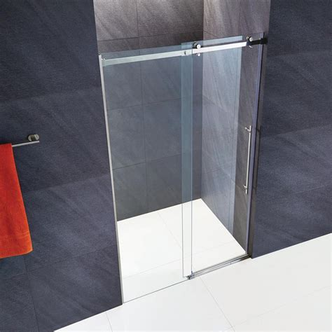 Frameless Shower Door Accessories Vigo Luca 60 In X 74 In Frameless Fixed Shower Door With Hardware In Stainless Steel And 3 8