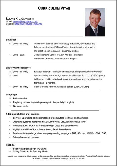 cv it cv 4 resume cv