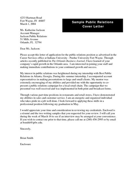 pr cover letter sles relations plan sle word document best agenda