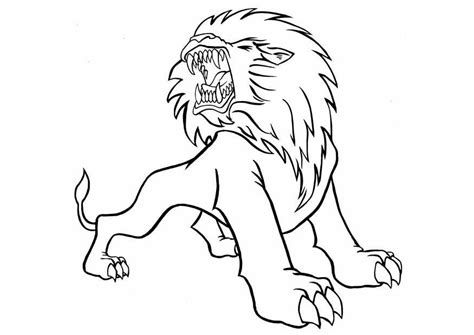 printable lion images free printable lion coloring pages for kids