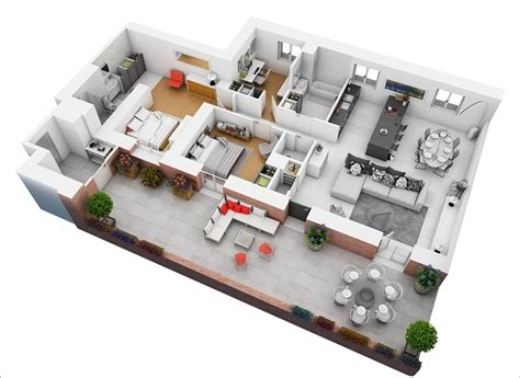 Floors And Decor Plano 10 awesome two bedroom apartment 3d floor plans