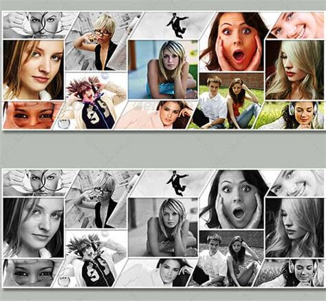 cover photo collage template photoshop 35 photo collage templates free psd vector eps ai