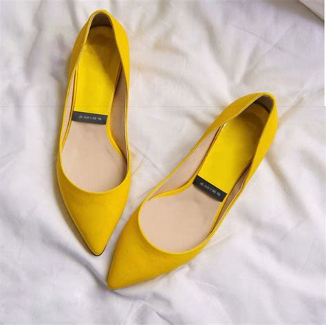 Jelly Shoes Cow Yellow Js10008 popular pink flats buy cheap pink flats lots from china pink flats suppliers on