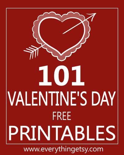 what day is valentines day this year 101 s day printables free print your own