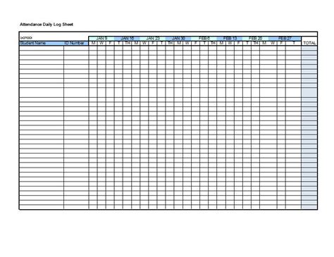 Church Attendance Card Template by Las 25 Mejores Ideas Sobre Attendance Sheet Template En