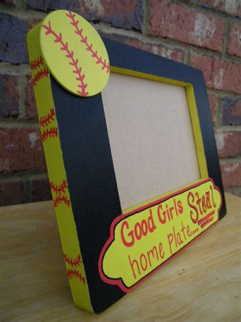 themed picture frames softball themed quot home plate quot 5 x 7 frame