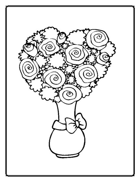 Flowers Coloring Pages Moms Who Think Flower Coloring Page
