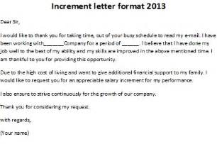 Thanking Letter Boss For Salary Increment increment letter format 2013 increment letter format