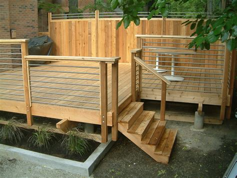 Patio Deck Railing Designs Horizontal Deck Railing Deck Contemporary With Architecture Cedar Deck Design Front Exterior