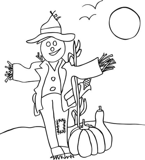 pumpkin scarecrow coloring pages pinterest the world s catalog of ideas
