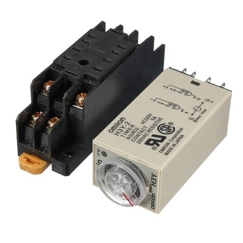 Timer Relay Omron H3y 2 By Wobble h3y 2 220v power on time delay relay solid state timer