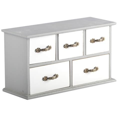 5 colours mini kommode metal handles 5 drawers wood