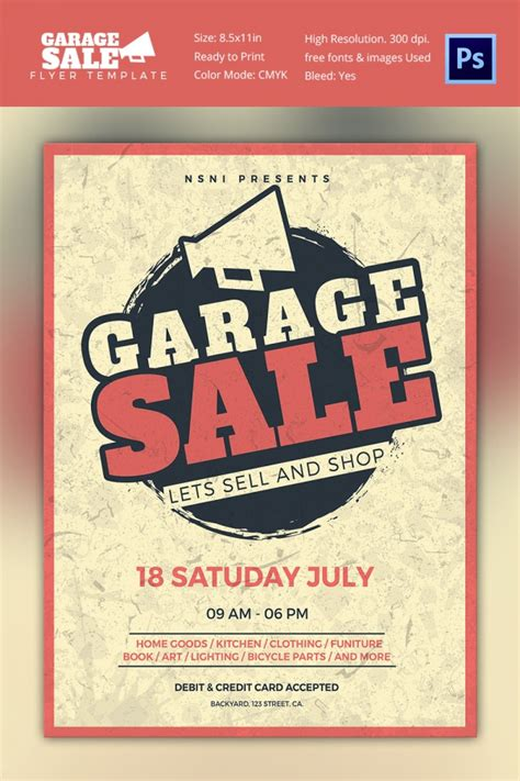 14 Best Yard Sale Flyer Templates Psd Designs Free Premium Templates Garage Sale Ad Template