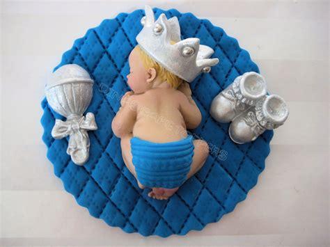 boy prince baby shower  birthday fondant boy cake topper baptism christening crown favors