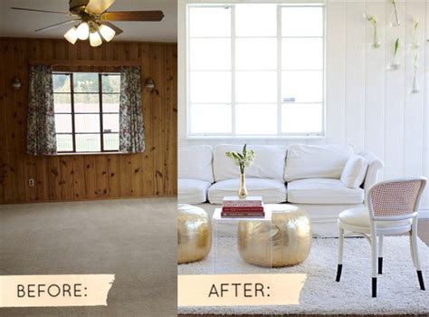 wood paneling makeover before and after before after sarah s real world makeover design sponge