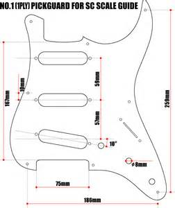 Strat Template by Pickguard Templates Fender Jazzmaster Guitar Templates