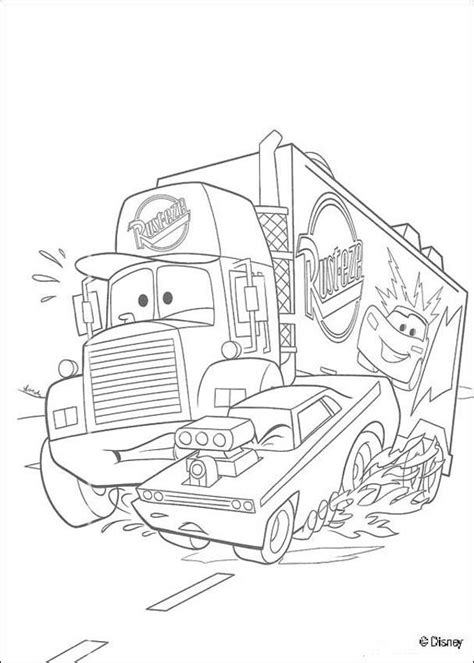coloring pages cars mack mack super liner truck coloring pages hellokids com