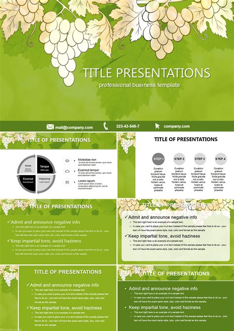 Grapes Biology Free Powerpoint Templates Imaginelayout Com Biology Ppt Templates Free