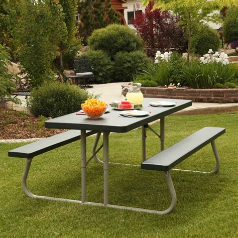 lifetime 22123 6 foot folding picnic bench in green