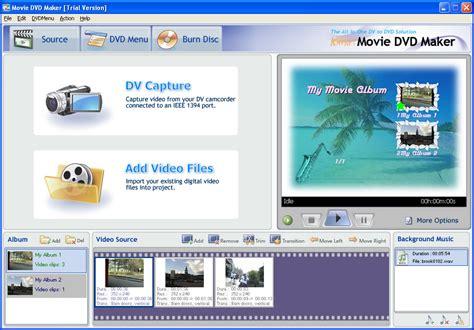 free download full version movie dvd maker anvsoft movie dvd maker 3 02 full screenshot
