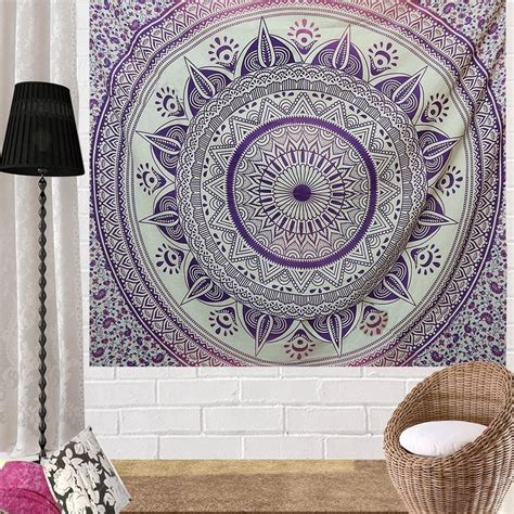 pink and purple hippie tapestries boho home decor mandala