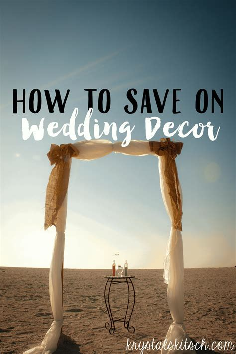 How to Save Money on Wedding Decor