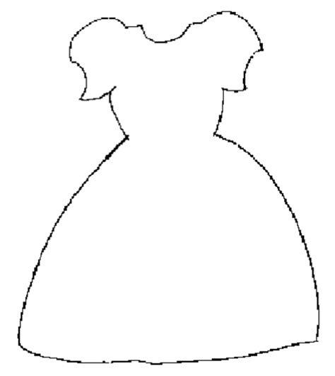 dress template craft ideas pinterest craft cards