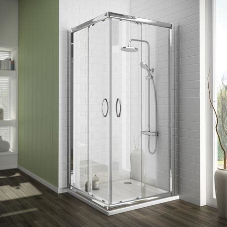 Sale Shower Enclosures by Newark Corner Entry Shower Enclosure With Pearstone Tray
