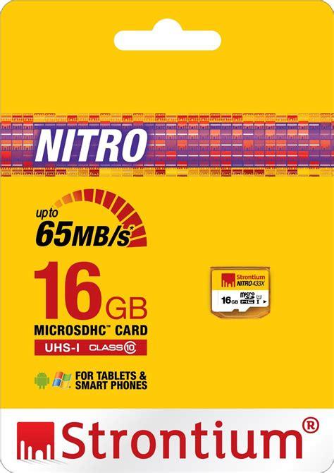 Strontium Nitro 433x Microsdhc Uhs 1 65mb S Class 10 16gb 1 buy strontium nitro 16gb memory card microsdhc uhs 1