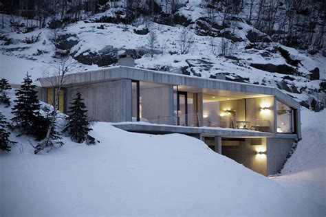 Snowmobile Cabin by Concrete Snow Cabin By Filter Arkitekter Hiconsumption