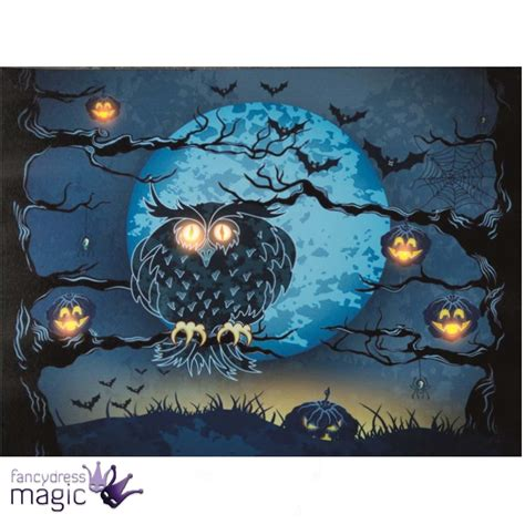 canvas light up wall led light up canvas spooky picture wall