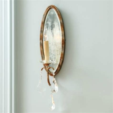 Mirrored Wall Sconce Marseille 1 Light Mirrored Wall Sconce Traditional By