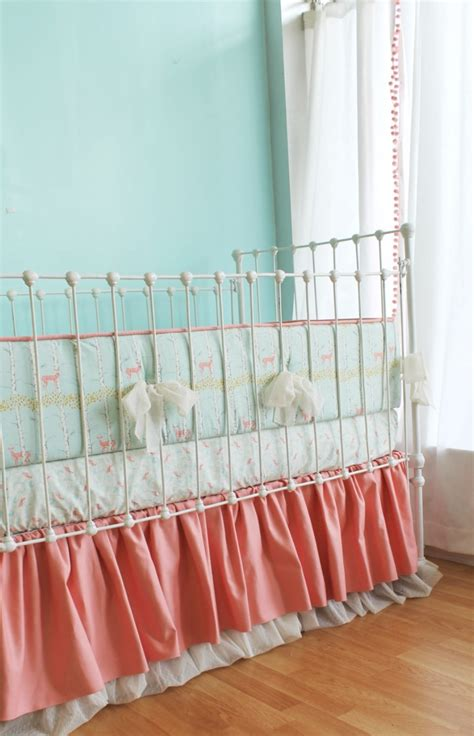 coral baby bedding sold out coral fawn forest baby bedding set lottie da baby