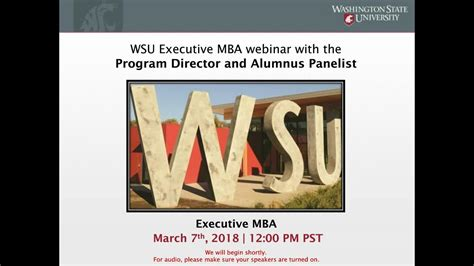 Wsu Executive Mba by Learn More