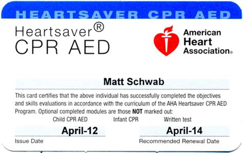 american association heartsaver cpr card template cpr card template 28 images aid cpr certificate