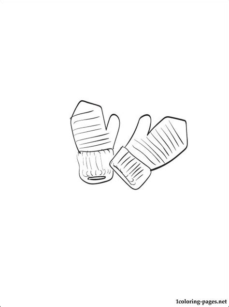 mittens coloring page printables free coloring pages of pair of mittens