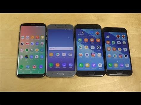Samsung A3 Vs J5 samsung galaxy j5 2017 vs galaxy s8 vs galaxy a5 2017 vs galaxy a3 2017 which is faster