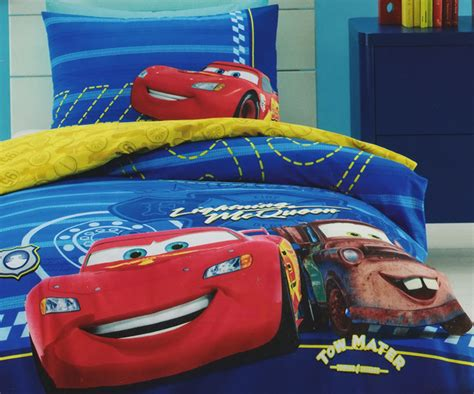 Lightning Mcqueen And Mater Quilt Doona Duvet Cover Set